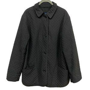 Burberry London Black Diamond Quilted Barn Jacket